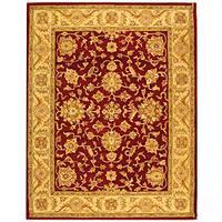 Safavieh Handmade Antiquities Jewel Red/ Ivory Wool Rug - 7'6 x 9'6