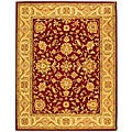 Safavieh Handmade Antiquities Jewel Red/ Ivory Wool Rug - 7'6 x 9'6