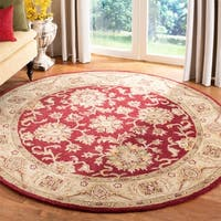 Safavieh Handmade Antiquities Jewel Red/ Ivory Wool Rug - 8' x 8' Round