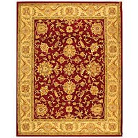 Safavieh Handmade Antiquities Jewel Red/ Ivory Wool Rug - 8'3 x 11'