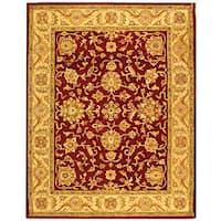 Safavieh Handmade Antiquities Jewel Red/ Ivory Wool Rug (8'3 x 11')