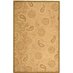 Safavieh Handmade Paisley Sage Wool Rug (5'3 x 8'3)