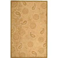 Safavieh Handmade Paisley Sage Wool Rug - 5'3' x 8'3'