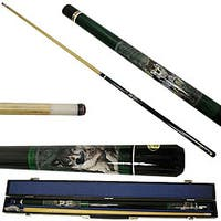 Wild Wolf 2-piece Pool Cue with 6 Replacement Tips