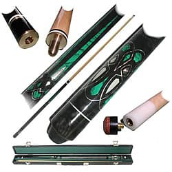Emerald Green 2-piece Pool Cue with Replacement Tips|https://ak1.ostkcdn.com/images/products/3555364/Emerald-Green-2-piece-Pool-Cue-with-Replacement-Tips-P11629262.jpg?impolicy=medium