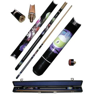 Galaxy 9 Ball 2-piece Pool Cue with Replacement Tips