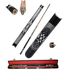 Yin Yang 2-piece Pool Cue with Six Replacement Tips|https://ak1.ostkcdn.com/images/products/3555397/Yin-Yang-2-piece-Pool-Cue-with-Six-Replacement-Tips-P11629272.jpg?impolicy=medium