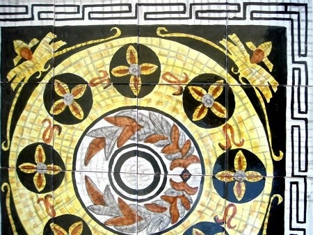 Hanna Design 16-tile Ceramic Mosaic Medallion