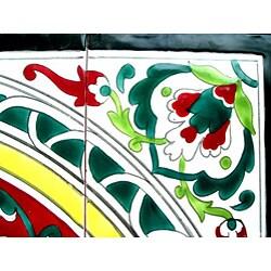 Hand-painted Mosaic Ceramic Tiles (Set of 16) - Thumbnail 2