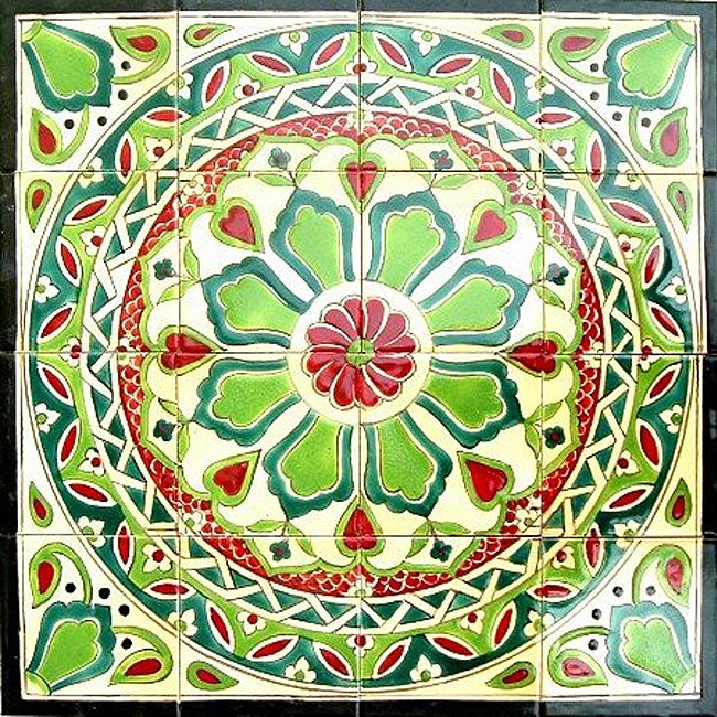 Shop Hand Painted Mosaic Ceramic Tiles Set Of 16 Free