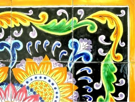 Hand-painted Mosaic Ceramic Tiles (Set of 16) - Thumbnail 1