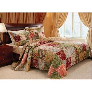 greenland home fashions antique chic 3piece cotton bedspread set