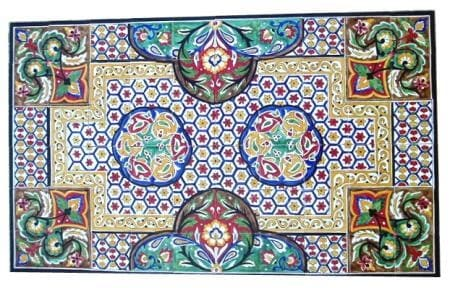 Shop Antique Looking Persian Area Rug Architectural \'Chabahar Design ...