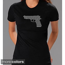 Los Angeles Pop Art Women's '2nd Amendment Gun' Shirt (Option: L)