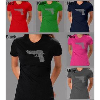 Los Angeles Pop Art Women's '2nd Amendment Gun' Shirt