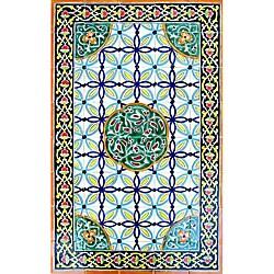 Architectural 'Raya Design' 40-tile Ceramic Wall Art