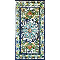 Architectural 'Bahar Design' 40-tile Ceramic Wall Art