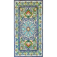 Antique Looking Persian Area Rug Architectural Bahar Design 40 Tile Ceramic Wall Art