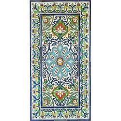 Antique Looking Persian Area Rug Architectural U0027Bahar Designu0027 40 Tile  Ceramic Wall Art