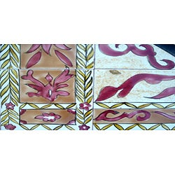 Architectural 'Persepolis Design' 40-tile Ceramic Wall Art - Thumbnail 2