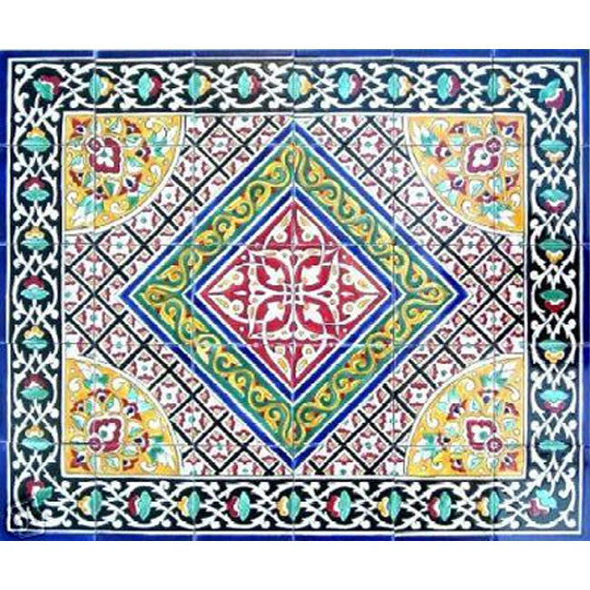 Shop Antique Looking Persian Area Rug Architectural u0027Bushehr Designu0027 30 Tile Ceramic Wall Art - Free Shipping Today - Overstock.com - 3571997  sc 1 st  Overstock.com & Shop Antique Looking Persian Area Rug Architectural u0027Bushehr Design ...