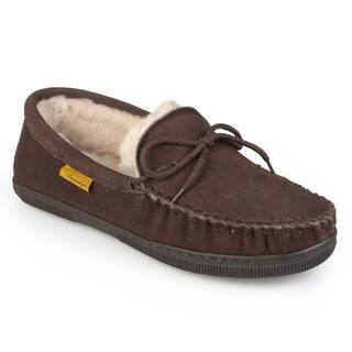 Men's Moccasin Sheepskin Slippers|https://ak1.ostkcdn.com/images/products/3572508/P11644731.jpg?impolicy=medium