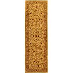 Safavieh Handmade Treasure Ivory/ Brown Wool Runner (2'3 x 10')
