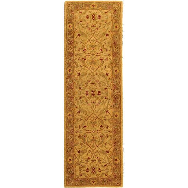 Safavieh Handmade Treasure Ivory/ Brown Wool Runner (2'3 x 12')