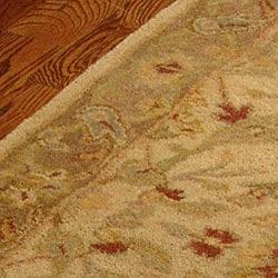 Safavieh Handmade Treasure Ivory/ Brown Wool Runner (2'3 x 12') - Thumbnail 1