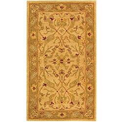 Safavieh Handmade Antiquities Treasure Ivory/ Brown Wool Runner (2'3 x 4')