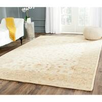 Safavieh Handmade Antiquities Treasure Ivory/ Brown Wool Rug - 4' x 6'