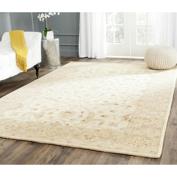 Safavieh Handmade Antiquities Treasure Ivory/ Brown Wool Rug (4' x 6')