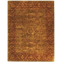 "Safavieh Handmade Golden Jaipur Green/ Rust Wool Rug - 9'-6"" x 13'-6"""