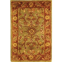 Safavieh Handmade Golden Jaipur Green/ Rust Wool Rug - 2' x 3'