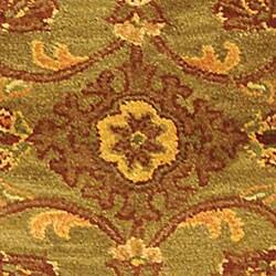 Safavieh Handmade Golden Jaipur Green/ Rust Wool Runner (2'3 x 10') - Thumbnail 1