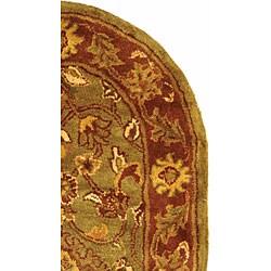 Safavieh Handmade Golden Jaipur Green/ Rust Wool Rug (2'3 x 4' Oval) - Thumbnail 2