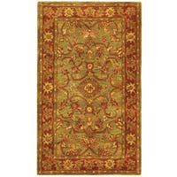 Safavieh Handmade Golden Jaipur Green/ Rust Wool Rug - 3' x 5'