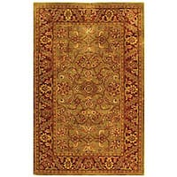 Safavieh Handmade Golden Jaipur Green/ Rust Wool Rug - 4' x 6'