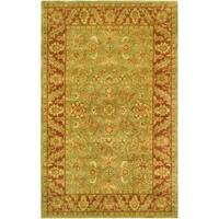 Safavieh Handmade Golden Jaipur Green/ Rust Wool Rug - 5' x 8'