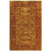 Safavieh Handmade Golden Jaipur Green/ Rust Wool Rug - 5' x 8'
