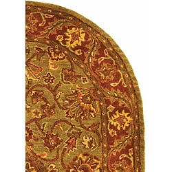 Safavieh Handmade Golden Jaipur Green/ Rust Wool Rug (4'6 x 6'6 Oval) - Thumbnail 2