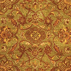 Safavieh Handmade Golden Jaipur Green/ Rust Wool Rug (6' x 9') - Thumbnail 1