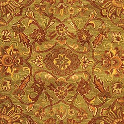 Safavieh Handmade Golden Jaipur Green/ Rust Wool Rug (7'6 x 9'6) - Thumbnail 1