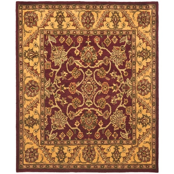Safavieh Handmade Golden Jaipur Burgundy/ Gold Wool Rug (9'6 x 13'6)