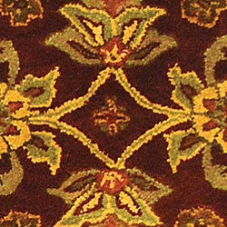 Safavieh Handmade Golden Jaipur Burgundy/ Gold Wool Runner (2'3 x 12') - Thumbnail 1