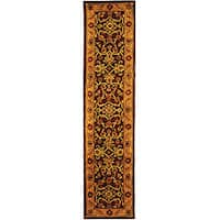 Safavieh Handmade Golden Jaipur Burgundy/ Gold Wool Runner Rug - 2'3 x 12'