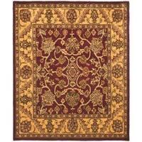 Safavieh Handmade Golden Jaipur Burgundy/ Gold Wool Rug - 3' x 5'