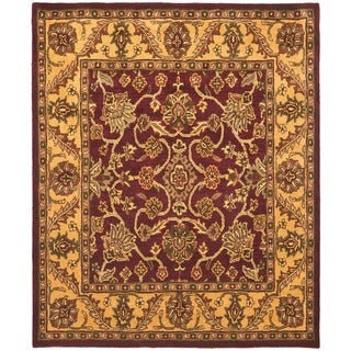 Safavieh Handmade Golden Jaipur Burgundy/ Gold Wool Rug (6' x 9')
