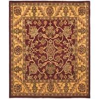 "Safavieh Handmade Golden Jaipur Burgundy/ Gold Wool Rug - 7'6"" x 9'6"""