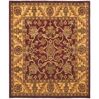 Safavieh Handmade Golden Jaipur Burgundy/ Gold Wool Rug (7'6 x 9'6)